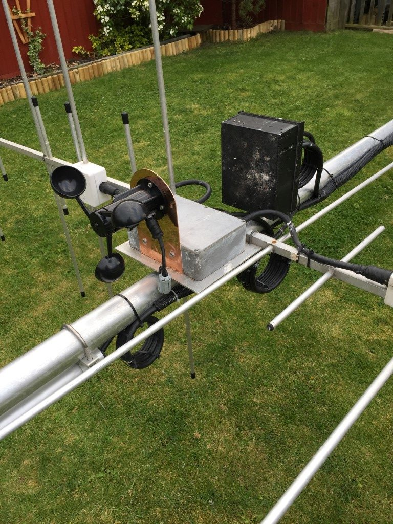 Mast Automation Archives Chatteris Weather M0hta Blog Pages Relay Switch Halfords Anemometer Mounted On 2m 70cm H V Box