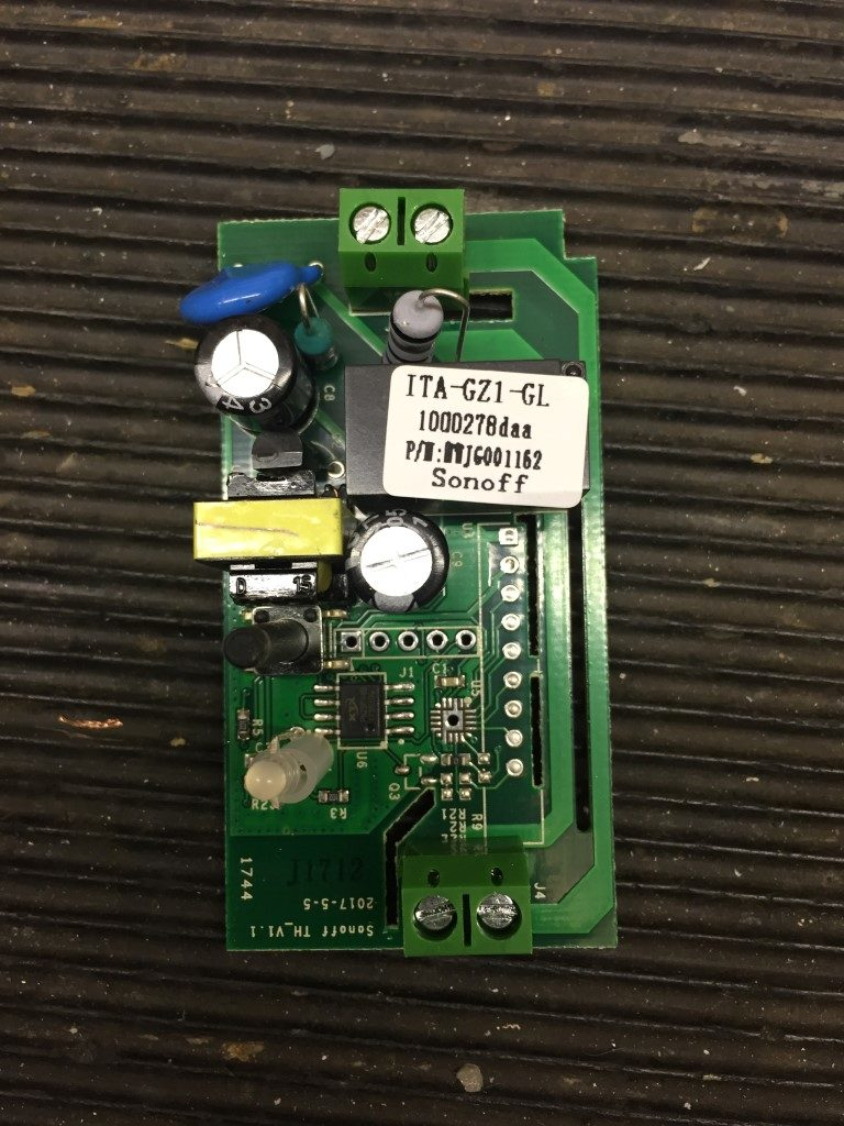 Sonoff Basic Voltage Free Relay Changeover Modification